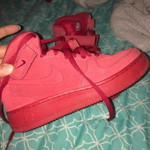 Red Nike Air Force 1s